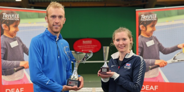Fletcher and Simmons lift National Deaf Tennis titles