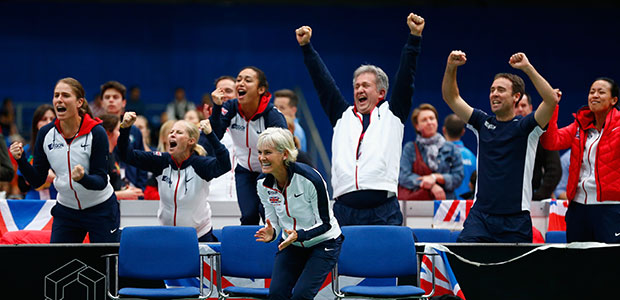 Aegon GB Fed Cup Team into play-offs after epic win over