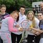 Pupils hit the court for tennis course