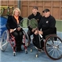 Elaine Paige and Peter Norfolk boost opportunity for disabled people to play wheelchair tennis in Hampshire