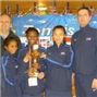 Esther Adeshina represents GB in the Tennis Europe Winter Cup