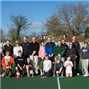 Things get a little hairy at Littleton Tennis Club with a Cardi-mo charity fund-raising session!