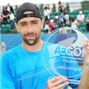 Becker with his AEGON TROPHY trophy