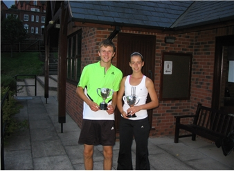 mixed doubles winners - Chris and Rebecca wood