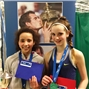 Photo - Scottish 12U Indoor Finalists - Ama Nisbet (winner) and Gemma Filshill (runner-up)